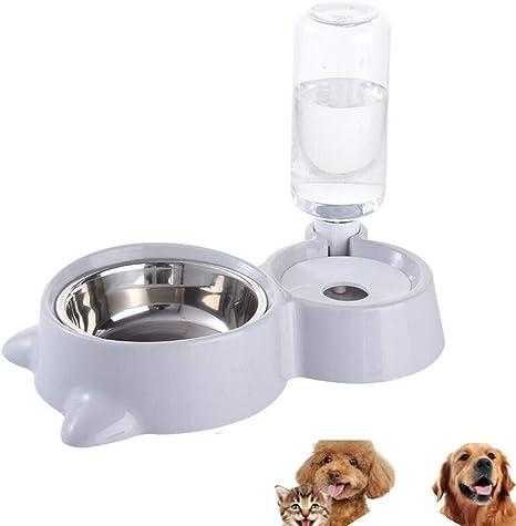 AYWJ Comedero For Perros Gatos Y Dispensador Automático De Agua ...