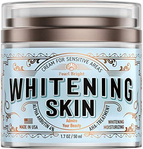 Whitening Cream for Sensitive Areas - Made in USA - Bleaching Cream for Whitening Skin - Dark Spot Remover for Intimate Parts with Alpha Arbutin 4% - Underarm Skin Lightening - Fairness Cream