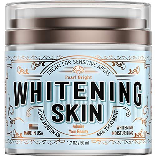 Whitening Cream for Sensitive Areas - Made in USA - Bleaching Cream for Whitening Skin - Dark Spot Remover for Intimate Parts with Alpha Arbutin 4% - Underarm Skin Lightening - Fairness Cream
