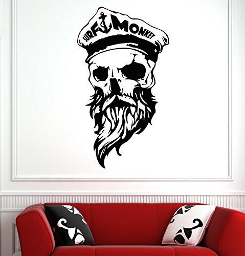 Skull Wall Decals – Vinyl Dallas Halloween Stickers for Men Women Kids – Stickers for Car Truck Windshield Door Window – Removable Kitchen Living Room Home Decor Wall Decals GMO2178 -