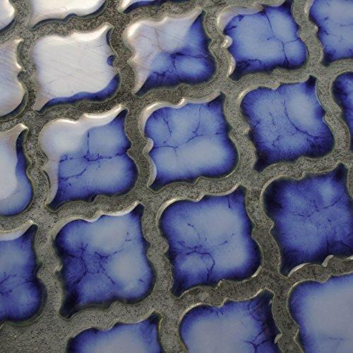 """lovely SomerTile FKOLTR24 Tinge Porcelain Floor and Wall Tile, 12.375"""" x 12.5"""", Sapphire Blue"""