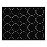 MasterVision Interchangeable Magnetic Characters, Circles, Black, 3/4'' Dia., 20/Pack