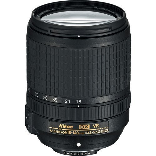 Nikon AF-S DX NIKKOR 18-140mm f/3.5-5.6G ED Vibration Reduction Zoom Lens with Auto Focus for Nikon DSLR Cameras International Version (No Warranty) (Best Wide Lens For Nikon Dx)