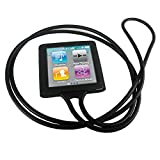 PiGGyB Groovy Silicone Watch Band Case Cover For Apple iPod Nano 6 6th Generation (Black).