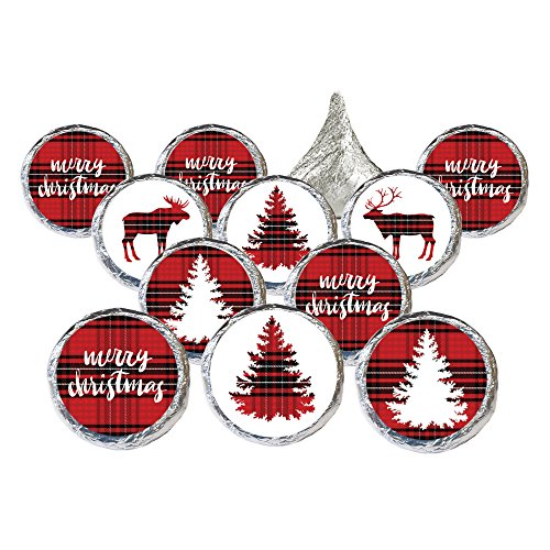 Christmas Stickers - Plaid Merry Christmas Stickers (324 Count)