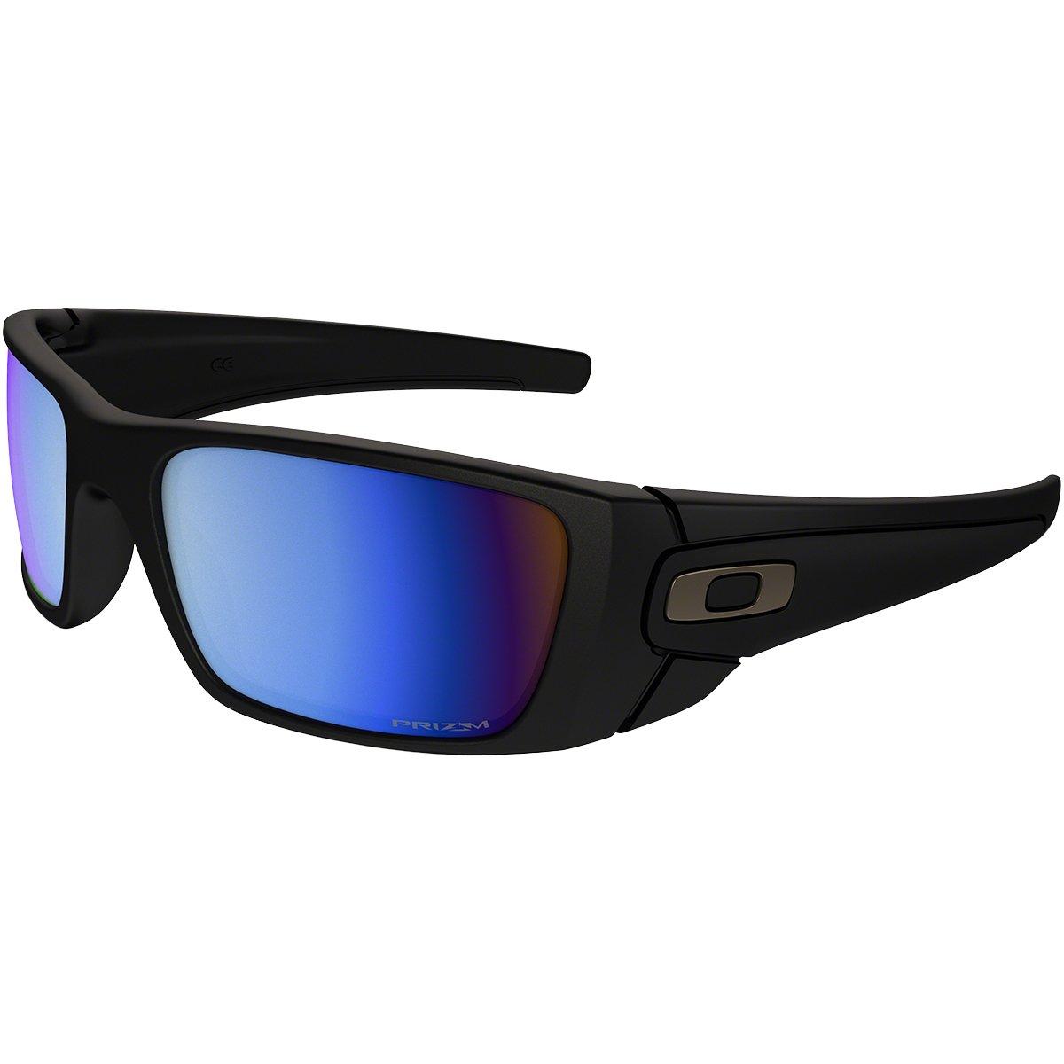 Oakley Men's OO9096 Fuel Cell Rectangular Sunglasses, Matte Black/Prizm Deep H2O Polarized, 60 mm by Oakley