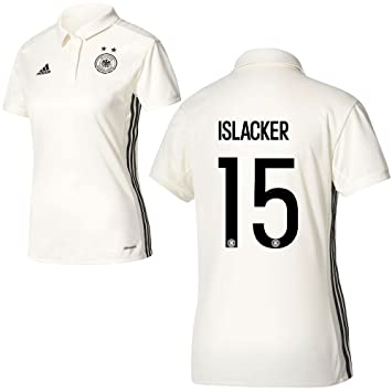 adidas DFB Alemania fútbol Home Camiseta Mujeres EM 2017 Mandy islacker 15 color blanco
