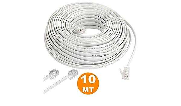 tradeshoptraesio® – CABLE telefónico MT 10 metros 10 RJ11 ...