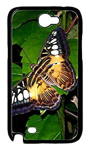 Samsung Note 2 Case Big Butterfly PC Custom Samsung Note 2 Case Cover Black