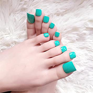 Amazon French False Toe Nail Tips With Designs Press On Nails