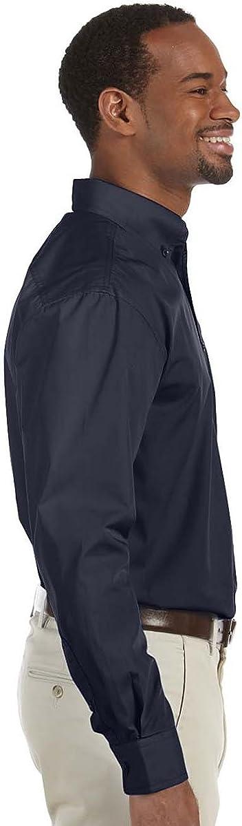 Essential Long-Sleeve Poplin M510T Harriton Tall 3.1 oz