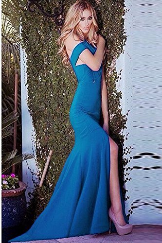 Neue Damen Lang Blau Twisted Neckholder Kleid Club Wear Abend Party ...