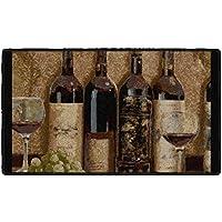 Brumlow Mills Wine Boutique Kitchen Rug, 20 by 34, Burgundy