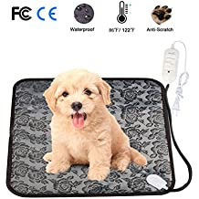 Pet Heating Pad Mat, Loveone(TM) Cat Waterproof Electric Heated Bed Puppy Cushion With Chew Resistant Tube, Temperature Adjustable Warmer Dog Blanket for Winter for People/ pets