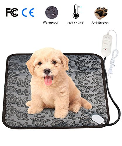 Pet Heating Pad Mat, Loveone(TM) Cat Waterproof Electric Heated Bed Puppy Cushion With Chew Resistant Tube, Temperature Adjustable Warmer Dog Blanket for Winter for People/ pets by loveone