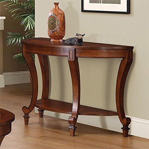 Coaster Home Furnishings Sofa Table with Curved Legs Warm Brown