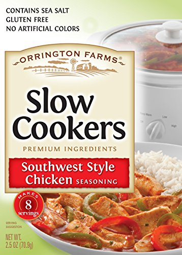 (Orrington Farms Slower Cookers Southwest Style Chicken Seasoning, 2.5 Ounce (Pack Of 12))