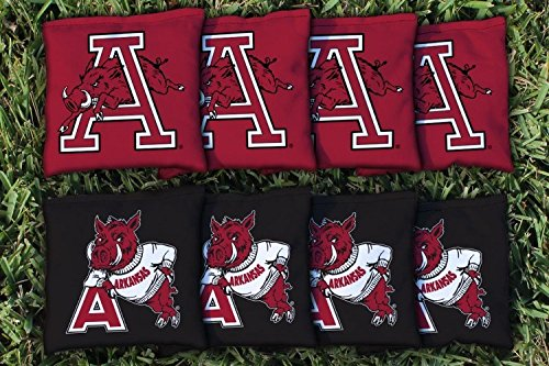 8 College Vault Arkansas Razorbacks Regulation Corn Filled Cornhole Bags ()