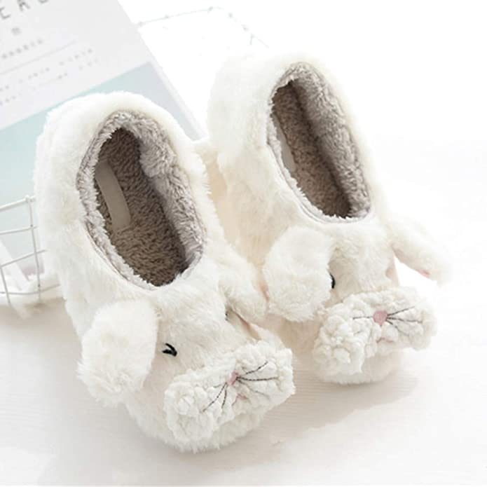 H2K Rabbit Girls Fashion Comfy Adorable Bunny Design Embroidered Low Top Slip-On Flats Sneakers Shoes