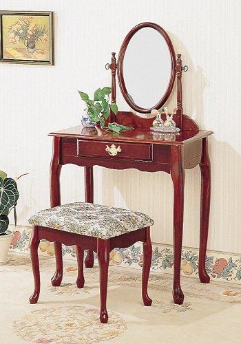 Cherry Finish Vanity Coaster Furniture