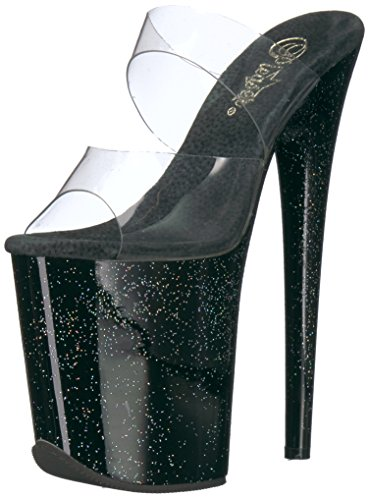 Pleaser Women's Flamingo-802mg Sandal Clr/Black VRLBvUn
