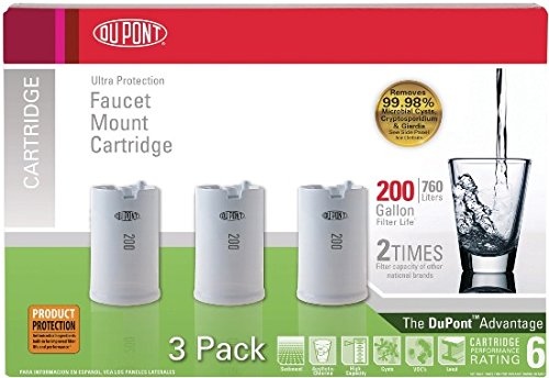 (DuPont WFFMC303X Ultra Protection 200-Gallon Faucet Mount Water Filtration Cartridge,3)