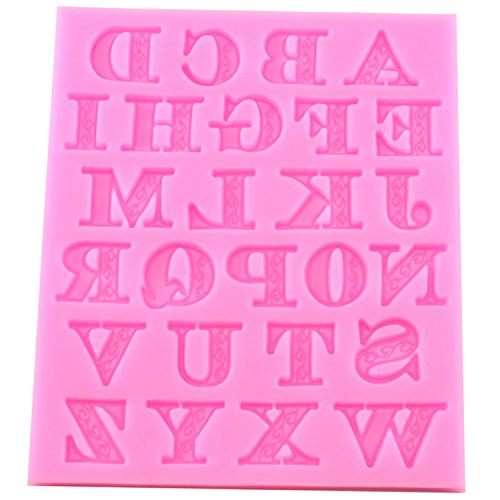 fondant candy making molds letter tools silicone alphabet