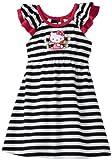 Hello Kitty Little Girls' Multi Stripe Dress, White/Black, 3T
