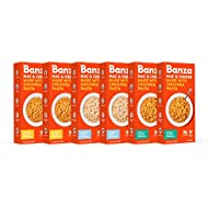Banza Chickpea Mac and Cheese, Variety Pack - Gluten Free Healthy Mac and Cheese, High Protein, Lower Carb and Non-GMO - (Pack of 6)