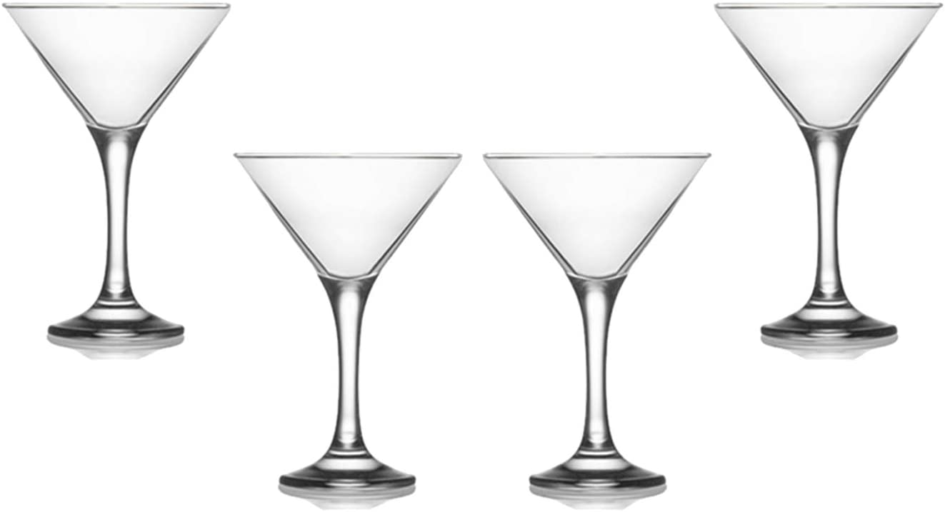 Cocktail Drinkware Modern Crystal Clear Glassware Set Of Misket Martini Stemmed Glasses 6 Oz 4 Kitchen Dining Belasidevelopers Co Ke