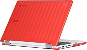 "iPearl mCover Hard Shell Case for 13.3"" Acer Chromebook R13 CB5-312T Series (NOT Compatible with Acer R11 and Other 11.6"" chromebooks) Convertible Laptop (Acer R13) (Red)"