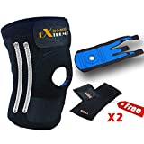 CRAZY SALE, 50% OFF TODAY ONLY]Knee Brace By Motion Infiniti for Acl, Meniscus Tear and Arthritis. Best Open Patella Knee Stabilizer and Knee Support That You Will Love - Comes with Large, XXL Size for Men and Women!
