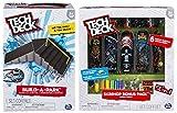 Tech Deck Build-A-Park - Kicker To 6 Stair Rail (Grey/Black) and a Tech Deck Sk8shop Bonus Pack (styles vary) Including Blizy keychain