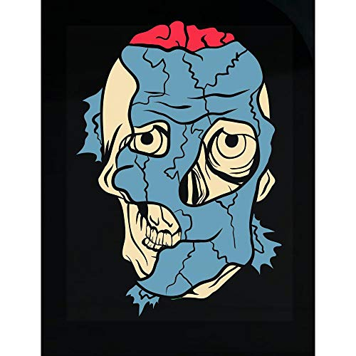 Groovy Gifts For All Cracking and Peeling Off Zombie Face Reveals The Bloody Brain and The Look - Transparent Sticker]()