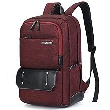 SOCKO Laptop Backpack Knapsack Rucksack Business Travel Hiking Shoulder Bag Student School College Backpack For 10 - 17.3 Inch Laptop / Notebook / Macbook / Chromebook / Tablet Computer,Jean Red