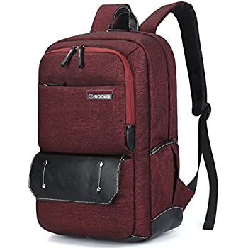 Amazon.com: Brinch Unisex 10-17 Inch Laptop Backpack with Side ...