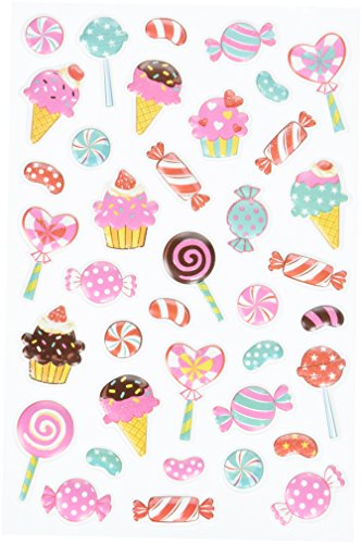 multicraft-imports-ss066d-candy-land-craft-3d-pop-up-stickers-multicolor