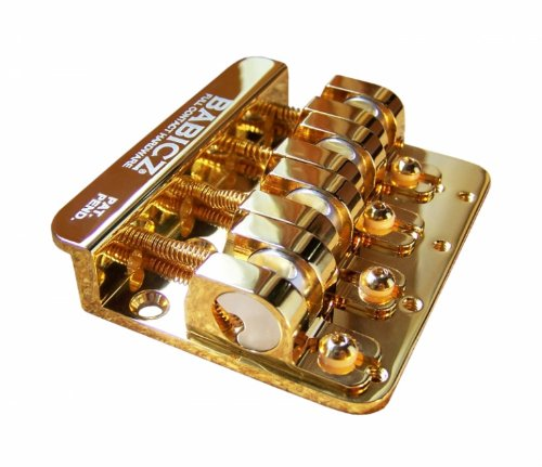 Babicz 4-String Bass Bridge, Gold ()