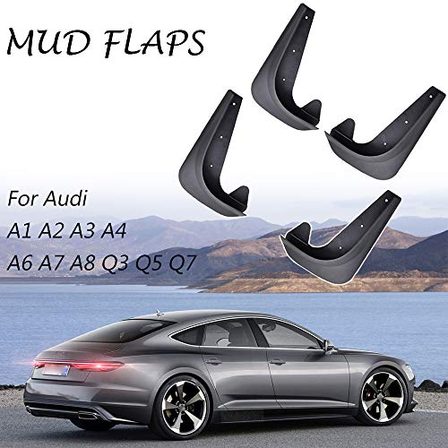 XUKEY Set Universal Mudflaps Mud Flaps Splash Guards Mudguards Fender Protector for Audi A1 A2 A3 A4 A5 A6 A7 A8 Q3 Q5 Q7 TT Diesel Avant