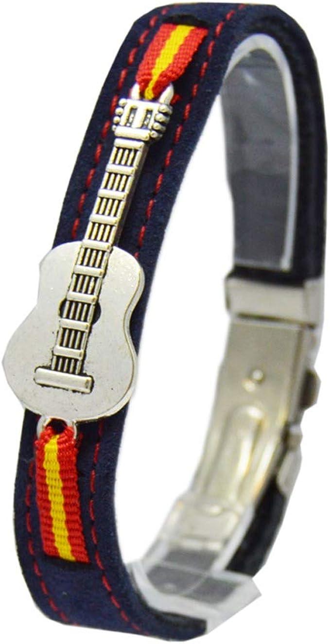 ALBERO Pulsera Guitarra Española - Piel y Zamack - 20 cm: Amazon ...