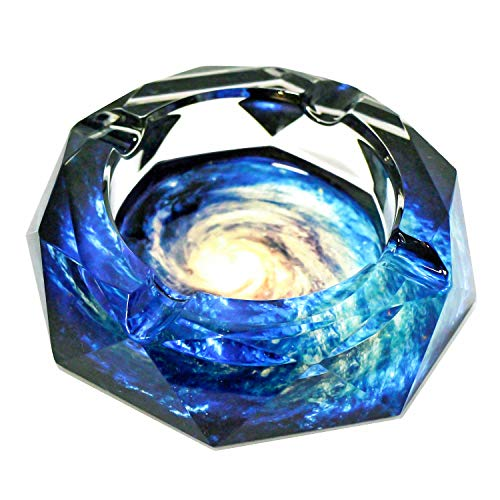Senliart Crystal Weed Ashtray for Cigarettes, Cigar Ash Tray, Outdoors & Indoors 4.5