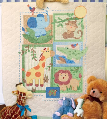 (Brand New Baby Hugs Savannah Quilt Stamped Cross Stitch Kit-34