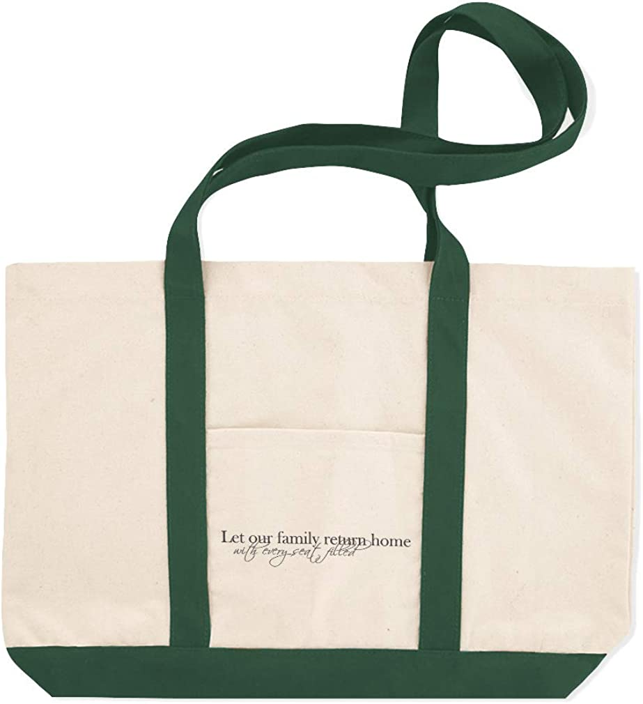 Canvas Shopping Tote Bag Let Our Family Return with Every Seat Filled Folk Beach for Women