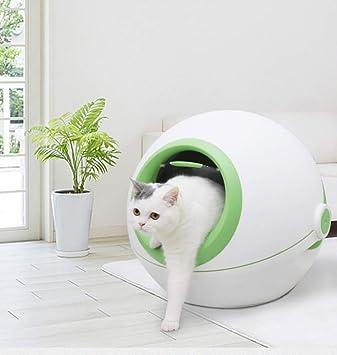 FXQIN Caja de Arena para Gatos, Entrada Frontal y Salida Superior, Caja de Arena