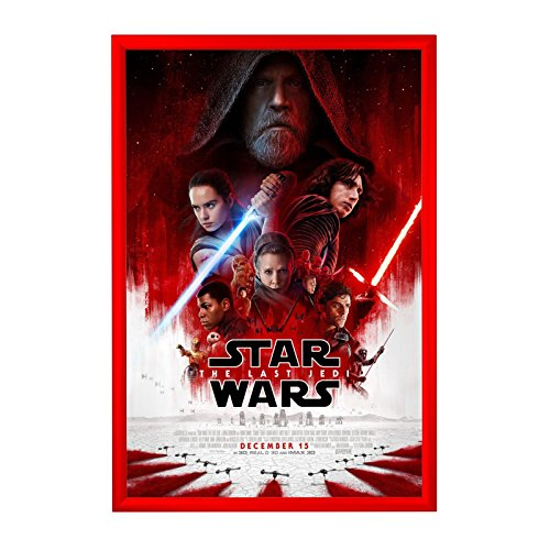 SnapeZo Movie Poster Frame 27x40 Inches, Red 1.2
