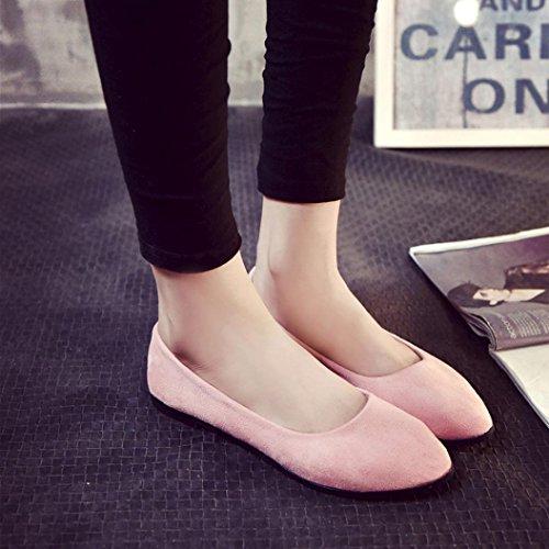 Transer Confortable De Ballerine Femmes À Paresseux Travail Rose Dames Flats Loisirs Enfiler Mocassins Les Chaussures Chaussures 1H4q4pd