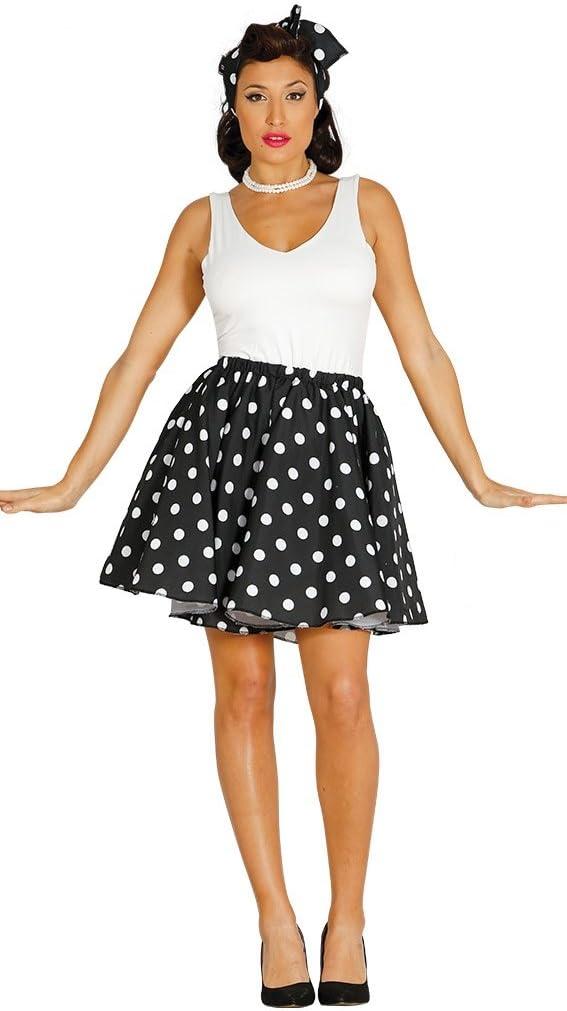 medición blanco lunares falda adulto negra de 50 años: Amazon.es ...