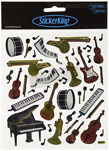 Tattoo King Multi-Colored Stickers-Orchestra ()