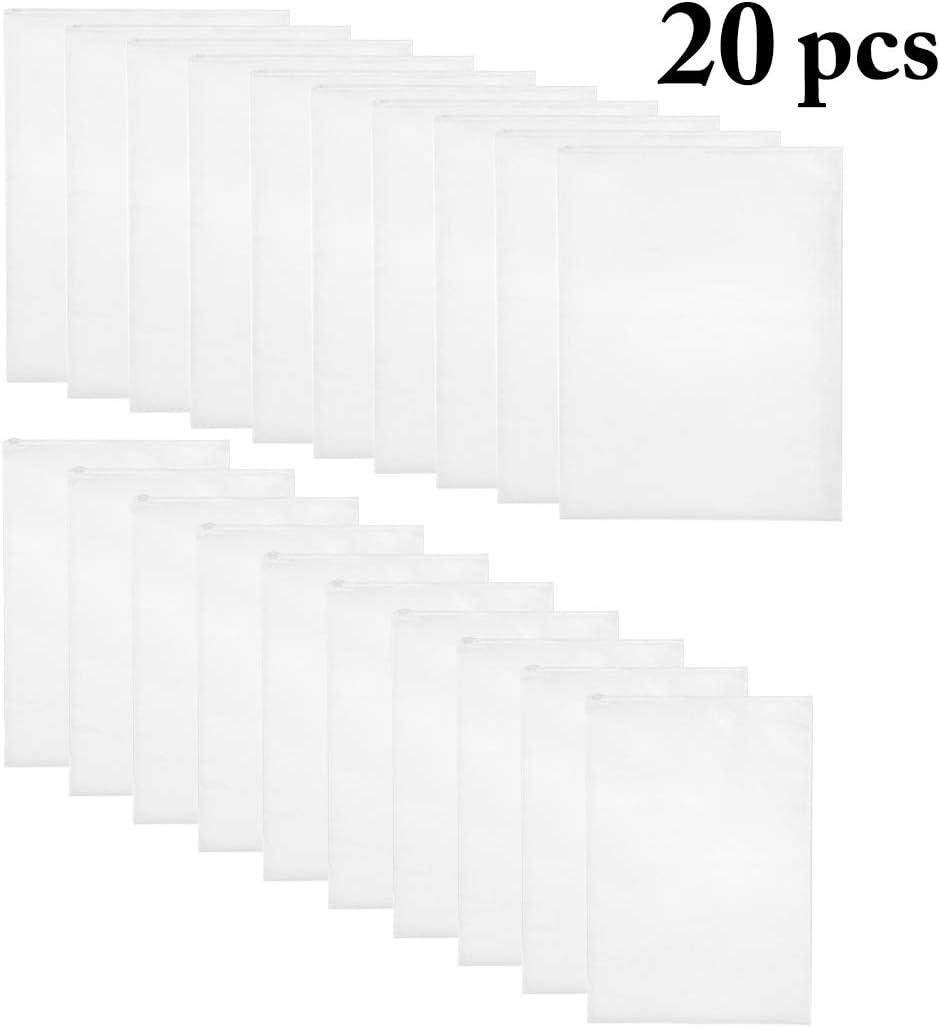 JUSTDOLIFE JUSTDOLIFE - 20 bolsas transparentes para zapatos a prueba de polvo, práctica y a la moda