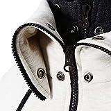 LOCALMODE Men's Double Zipper Hooded Jacket